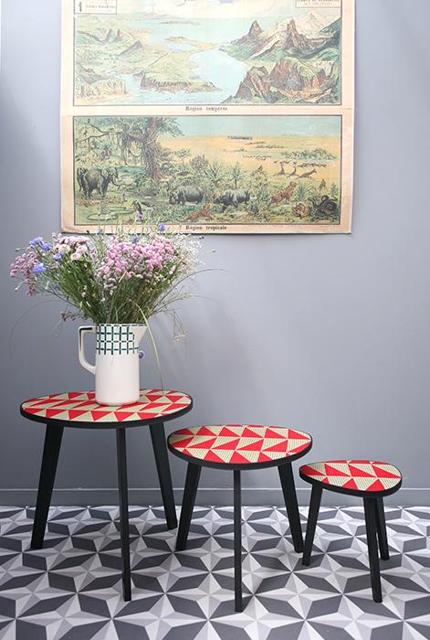 tables tripodes boucle d or sur commande la mauvaise. Black Bedroom Furniture Sets. Home Design Ideas